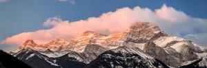 View of snowcapped mountain, Mount Lougheed, Kananaskis Country, Calgary, Alberta, Canada