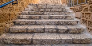 View of staircase, Jaffa, Tel Aviv, Israel