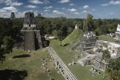 View of Temples from Archaeological Site of Tikal, Tikal National Park
