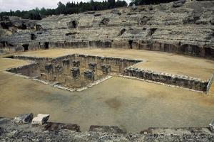 View of the Arena of the Amphitheatre in Italica