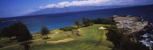 View of the Bay Course at the Seaside, Ritz-Carlton, Kapalua, Maui, Maui County, Hawaii, USA