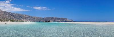 View of the Elafonisi Beach, West Coast, Crete, Greece