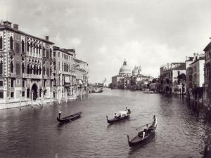 View of the Grand Canal with Gondolas