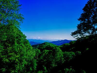View of the Great Smoky Mountains National Park from Newfound Gap Road, Tennessee and North Caro...