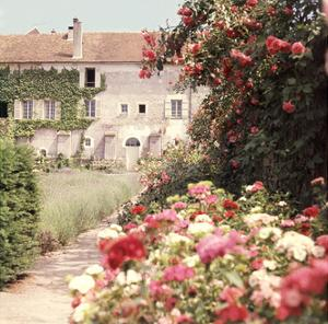View of the House from the Rose and Flower Filled Garden