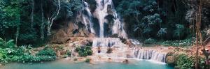 View of the Kuang Si Falls, Luang Prabang, Laos