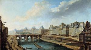 View of the Louvre Palace and the Pont Neuf, Paris by Nicolas Raguenet