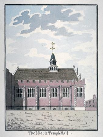 View of the North Side of Middle Temple Hall, London, C1800