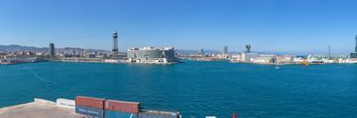 View of the Port of Barcelona, Barcelona, Catalonia, Spain