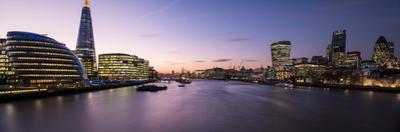 View of the Shard and City Hall from Tower Bridge, Southwark, London, England