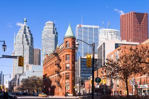 View of the skylines in Toronto, Ontario, Canada