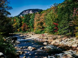View of the Swift River along Kancamagus Highway, White Mountain National Forest, New Hampshire...