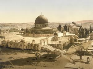View of the Temple Mount with the Dome of the Rock and the El Aqsa Mosque, Jerusalem, C.1880-1900