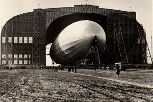 View of the Zeppelin and Mobile Mooring Tower at Lakehurst, New Jersey, from 'Zeppelin-Weltfahrten'
