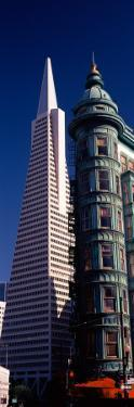 View of Towers, Columbus Tower, Transamerica Pyramid, San Francisco, California, USA