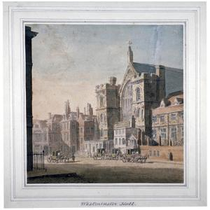 View of Westminster Halll and New Palace Yard, London, C1808