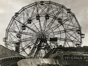 View of Wonder Wheel Ride at Coney Island