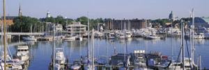 View of Yachts in a Bay, Annapolis MD Naval Academy and Marina, Annapolis, USA