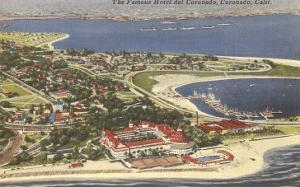 View over Hotel del Coronado, San Diego, California