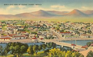 View over Juarez, Mexico