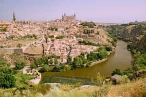 View overlooking the Tagus River and Toledo, Spain