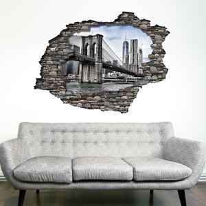 View Through the Wall - Brooklyn Bridge