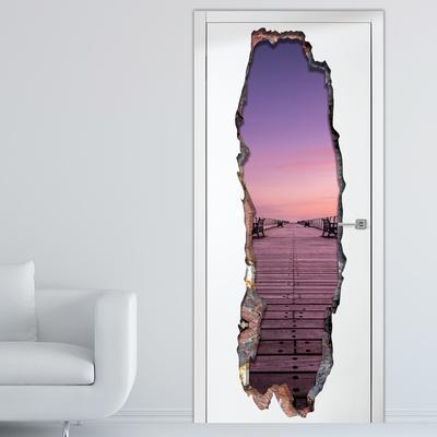 View Through The Wall   Serenity Door Wallpaper Mural