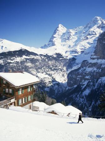 View Towards the Eiger, Murren, Swiss Alps, Switzerland