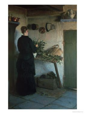 Lady in the Kitchen by Viggo Johansen