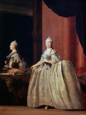 Empress Catherine II before the Mirror, 1779 by Vigilius Erichsen