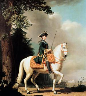Equestrian Portrait of Catherine II (1729-96) the Great of Russia by Vigilius Erichsen
