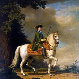 Equestrian Portrait of Empress Catherine II, (1729-179), after 1762 by Vigilius Erichsen
