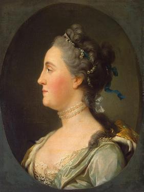 Portrait of Empress Catherine II, (1729-179), before 1762 by Vigilius Erichsen