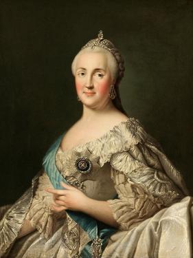 Portrait of Empress Catherine II (1729-179), C. 1780 by Vigilius Erichsen
