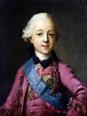 Portrait of Grand Duke Pavel Petrovich (1754-180) by Vigilius Erichsen