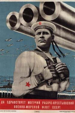 Long Live the Mighty Worker-Peasant War-Navy Fleet of the USSR!, 1939 by Viktor Borisovich Koretsky