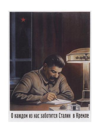 Stalin Cares at the Kremlin About Everybody by Viktor Iwanovich Govorkov