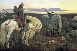 A Knight at the Crossroads, 1898 by Viktor Mihajlovic Vasnecov