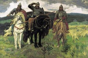 Bogatyrs, 1898 by Viktor Mikhaylovich Vasnetsov