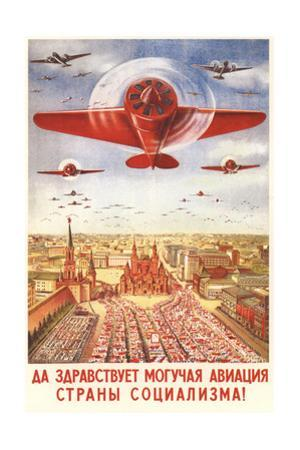 Long Live to the Strong Aviation of the Socialism Country! by Viktor Nikolaevich Dobrovolsky