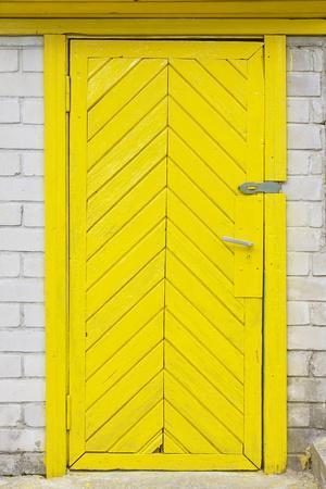 Yellow Old Wooden Door
