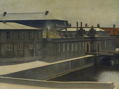 Christiansborg Palace from the Marmorbroen Bridge by Vilhelm Hammershoi