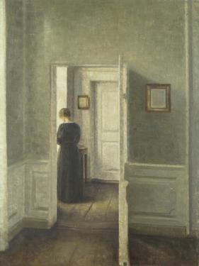 Frau in Einem Hellen Innenraum, 1913 by Vilhelm Hammershoi