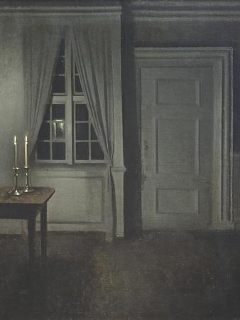 Interior with Two Candles