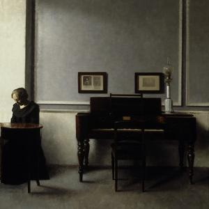 Interior by Vilhelm Hammershoi