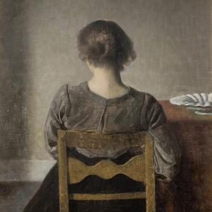 Rest by Vilhelm Hammershoi