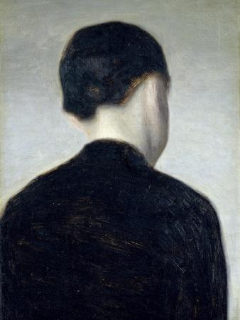 Seated Figure, Seen from Behind (Anna Hammershoi) 1884