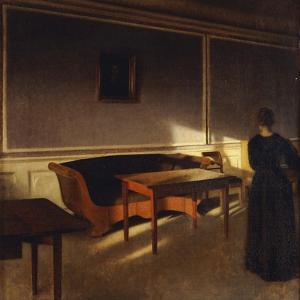 Solskin I Dagligstuen, No.1, 1903 by Vilhelm Hammershoi