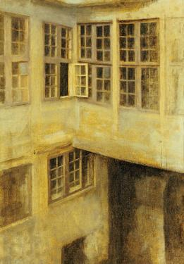 The Courtyard at 30 Strandgade by Vilhelm Hammershoi