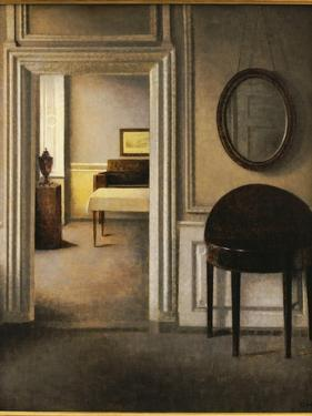 The Music Room, 30 Strandgade, C.1907 by Vilhelm Hammershoi